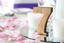 Wedding Table Numbers / Wooden wedding table numbers