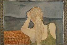 fantasy women living in paintings / original one of a kind paintings