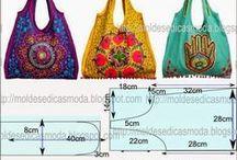 сумки - лекала, схемы по пошиву