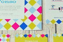Matilda Participaciones / Juego de tarjetón, tarjeta personal, sobre y sticker para cierre. Otros: tarjetas de agradecimiento, mapas, tarjetas para regalos, invitación virtual, números de mesa etc. Solicitar catálogo de diseños exclusivos.