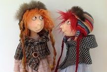 Cloth Art Dolls / I've made cloth dolls for years and like the way they look . They take on different personalities as you work on them.  Enjoy / by Barbara Harrison