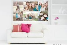 Canvas Wall Gallery Ideas / Our favorite canvas wall art collections from around the web. Use these examples as a jumping off point for creating the perfect canvas gallery for your home at simplygalleries.com.