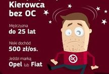 Kierowcy bez OC / Infografiki przedstawiające problem kierowców bez OC w Polsce oraz Europie.