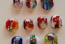 Handmade lampwork jewelery by me :)
