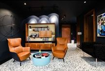 Retro Styled Office Interiors / It's all about mixing it up and having fun with retro and we love to upcycle, recyle and blend old with new. It's all style baby.