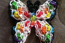 RAIMBOW LOOM / Confection de bracelets , bagues etc. avec des élastiques