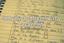 Courtneys bucket list / I'll do them... one day