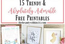 Printables / Create and have some FUN! Printables help you do just that simply and easily. Most are free :)