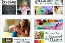 Art ideas for Under 5s / Ideas I've found on Pinterest and my own 'experiments' with children at my kindergarten