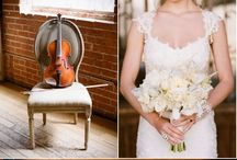 Brides + Violins = Love / Clever photo ideas with violins and brides