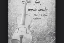"""Violins + Quotes / It's the special moments like these """"where words fail, music speaks"""" ~ Hans Christian Anderson"""
