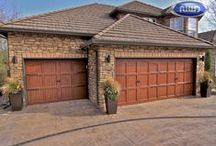 Infinity Classic - Wood Grain Aluminum Carriage Style Garage Doors / Beautiful heavy duty aluminum carriage style garage doors with wood grain powder coat finish