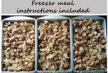 Freezer Meals / Freezer meals make my life so much easier.  If it's delicious, and healthy, I need the recipe!