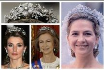Royal Tiaras, Spain / The tiaras used by the Spanish Royal family.