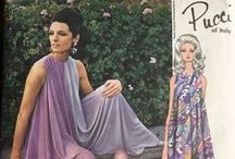 Emilio Pucci obsession / Colour, pattern, big pants, great necklines. Some photos I've taken from magazines and pattern envelopes, other photos are off the web.