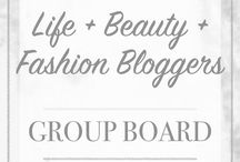 Life + Beauty + Fashion Bloggers Group Board / Group Fashion, Lifestyle, and Beauty Board for Fashion, Beauty and Lifestyle Bloggers.  To Join:  1. Follow me (Natalie) A Whole Latte Love Blog   2. Email me natwier@gmail.com.  Please no more then 4 pins per day!  Please repin others!