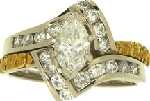 "Wedding Bands / Alaskan Gold Nugget and Diamond Wedding Bands...Natures way of saying: ""I Love You Forever..."""