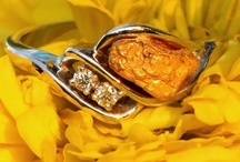 Gold Nugget Rings - Women / women's Alaskan gold nugget rings......handcrafted right here in our shop at Gold Rush Fine Jewelry in Fairbanks Alaska...Just as mother nature did not make raw, natural gold nuggets exactly the same, no two gold nugget rings can be identical. ~ (907) 456-4991 or email service@goldrushfinejewelry.com