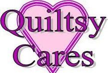 """Quiltsy Cares / March is National Quilting Month.  Once again in 2016, Quiltsy Team members are participating in """"Quiltsy Cares"""" to highlight donations made by team members to various charities. The Quiltsy Team on ETSY has many generous members, and each day in March 2015 a different Quiltsy member will be donating a quilt or other needed item to a charity of their choice."""