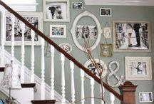 Stairwell/Hallway Ideas / Shabby Chic, classic looks, modern looks and boho looks.