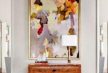 Grote schilderijen geven sfeer in huis / Grote schilderijen in huiselijke sfeer