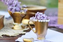 Rustic Lilac table decorations / Flordeluxe