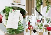 Forest marsala wedding decoration / Flordeluxe
