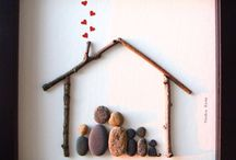 Pebble and Shell Art