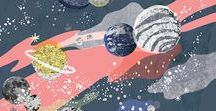 ASTROLOGY PRINT & PATTERN / Mystical elements of the universe