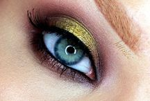 Eye makeup / Eye makeup to amplify natural eye color using complementary shades of eyeshadow