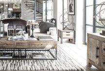 Style loft industriel / Industrial loft style / #loft #industriel #meuble #meubles #urbanchic #decoration #furniture #Wood #Metal #Bois #Home