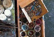 atelier, workshop, art studio corner