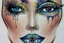Makeup / Fabulous makeup and magical colors.