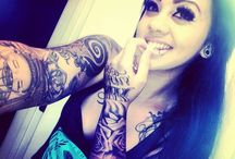 Ink&piercings / I do it for the dirty looks.♥  - Because they look fucking awesome and I just felt like it. -inked beauty's-♥