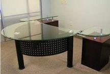 "Executive Desk / ""Executive office desks, modern executive desk, commercial desk, large desks, European desks, unique desks, home office desks, glass desks!"