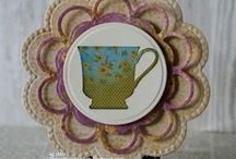 Cards: Made w Dies Circles / Handmade cards made with Spellbinders Dies that are circle in shape.  Be sure to check out my other Spellbinders Die Boards. / by Camano Art Cards
