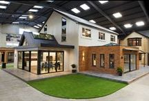 Express | Leeds, Redhill, Glasgow and Romford Showrooms / The Home Space is our pride and joy. Here you'll find a full size replica of our Firs House project, along with bi-folding doors, sliding doors, roof lanterns and more.