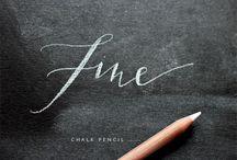 chalkboard lettering inspiration