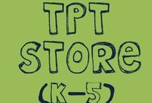 TpT Store / Pins from my TpT Store.  50+ Free Resources!