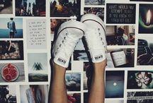 on my feet