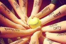 softball . ⚾️⚾️ / its not technically stealing since i own the field ;) / by mel ♡