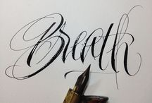 calligraphy and freehand lettering inpiration