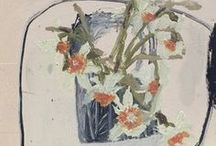 Flower Art / Paintings of Flowers. Oil paintings.