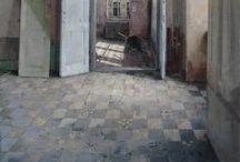 Art of Interiors / Oil paintings of interiors.