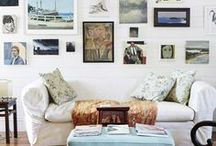 Gallery Walls / Gallery Walls. Walls of paintings and prints.