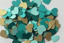 Aqua,Teal and Turquoise Weddings