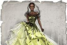 Gown Illustrations / Maybe you can't find just the RIGHT gown, you might want to hire a dress maker. Just a thought!