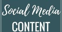 Social Media Tips / Some great advice on how to increase engagement and views on social media including Facebook, Instagram,, Twitter and Pinterest