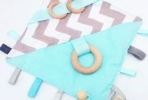 Baby Sensory Tag Taggy Taggie Blanket Wood Ring Teether Beads