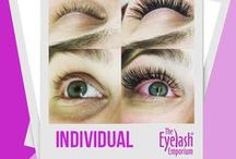 Individual Eyelash Extensions / Follow for inspirational pins of looks you can create with individual eyelash extensions